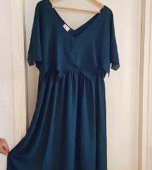 Duga tirkizna haljina