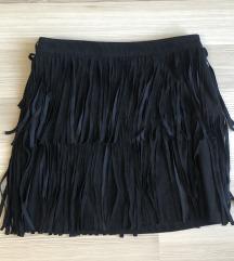 H&M Crna suknja s resama
