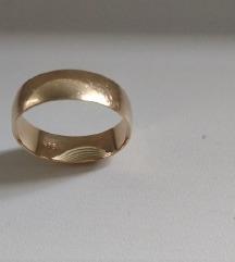 Vjenčani prsten zlatni 14K ženski, oznaka 585