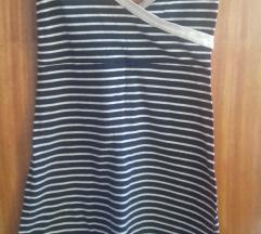 Haljina modro bijela