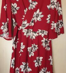 Mango cvjetna crvena haljina