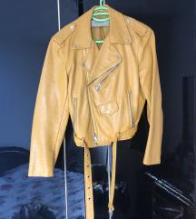 Zara žuta kožna jakna