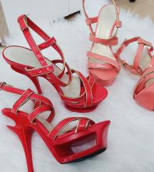 Štikle crveno-zlatne i rozo-zlatne