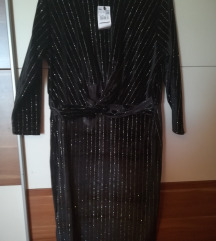 Mango haljina sa srebrnim nitima