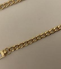 Lanac za torbu zlatni 125 cm