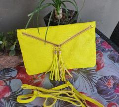 Novo  zuta pismo torbica