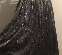 Suknja plisirana pliš