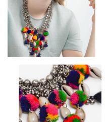 ZARA pompon ogrlica