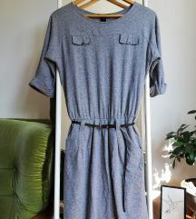 MANGO siva casual haljina