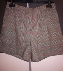 Karirane zimske kratke hlače