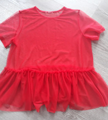 Crvena mrezasta majica L