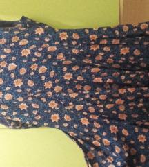 Plava haljina s cvjetovima