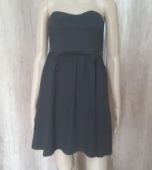 Crna, pamučna haljina, S