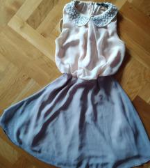 Nude mini lepršava haljinica