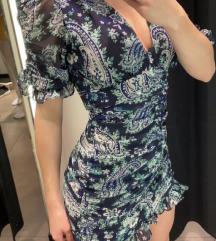 Zara drapirana mini haljina