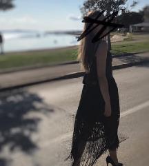 Crna haljina sa pt.