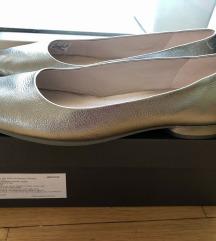 ECCO srebrne balerinke (nošene 1x)