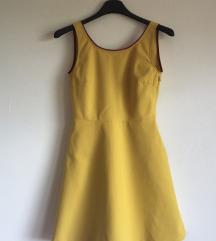 Žuta mini haljina