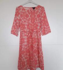 1xnošena H&M roza cvjetasta na vezanje XS,S