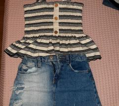 Lot suknja i top vel. 116