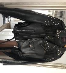 Kožna jakna s resicama