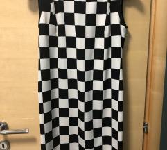 Haljina crno bijele kockice