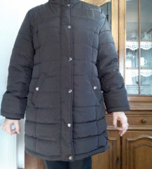 Tamno smeđa zimska jakna, L/XL, NOVA