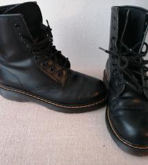 Čizme, crne prava koža, vel 36,5