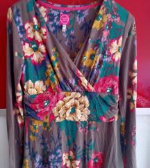 Cvjetna haljina dugi rukav