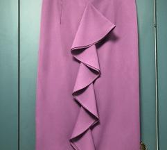 Ljubicasta poslovna suknja