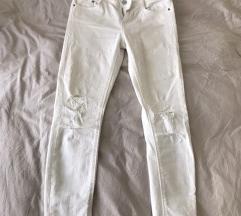Zara bijele traper hlace 36