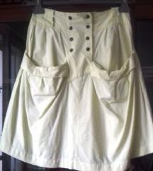 Svijetložuta vintage suknja