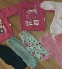 Lot odjece za djevojcice 74/80