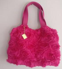 Roza torba s ružicama NOVO