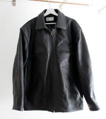 Kožna jakna - crna - XXL - muška