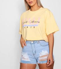 BOOHOO plus size žuta majica 46