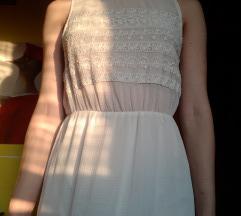 Duga leprsava bijela haljina