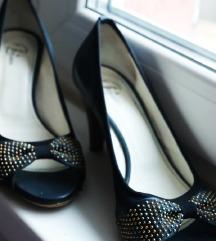 Bata plave sandale na petu
