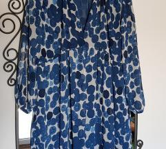 Nova Mango plava tunika s točkicama