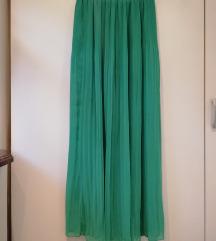 Pull&Bear smaragdnozelena suknja