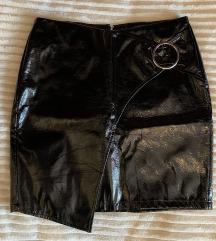 Vinil suknja crna