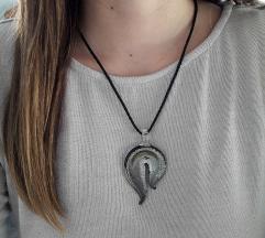 NOVO ogrlica sa srebrnim staklenim privjeskom