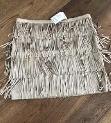Predivna Promod suknja s resicama, nova s etiketom