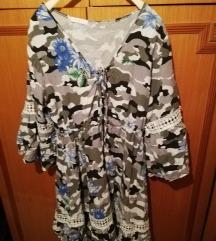 Pamučna haljina sa čipkom