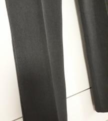 Sive poslovne široke hlače S