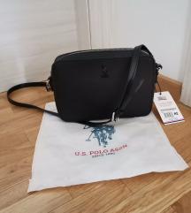 NOVO U.S. Polo torba crna sa etiketom
