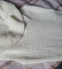 Tunika haljina vunena bijela uska