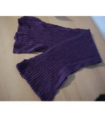 Dugački pleteni vuneni ljubičasti šal