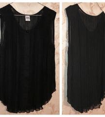 Vero Moda - crna plisirana bluza - XL (44 / 46)