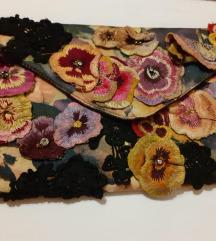 multi-coloured flower clutch